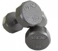 12 Sided Solid Gray Dumbbell Sets