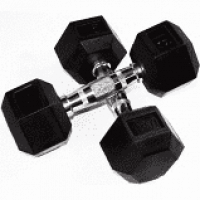 Rubber Hex Dumbbells - 35lbs